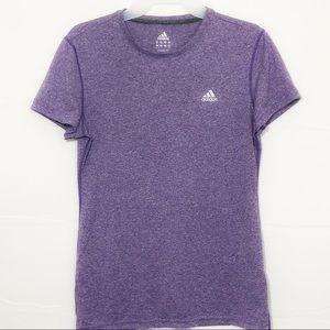 Adidas Climacool Crewneck Purple T-shirt Size M